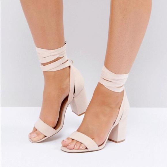 410e0e599a0 ASOS Howling tie leg heeled sandal